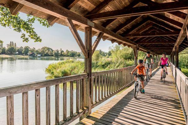 Brücke über den Kranzberger See