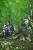 drei Wanderer auf dem Kindelsbergpfad