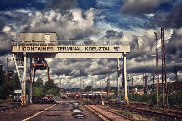 Ehemaliger Kran des Containerterminals (Foto: Alexander Kiß)