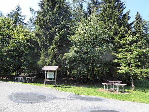 Informations- und Rastbereich am Kindelsberg.