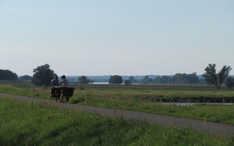 """5. Etappe """"Oder-Neiße-Radweg"""": Küstrin - Bad Freienwalde"""