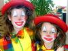 Bunt geschminkte Kinder beim Fasching im Lallinger Winkel