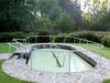 Wassertretbecken bei der Kneipp-Anlage in Lalling im Bayerischen Wald