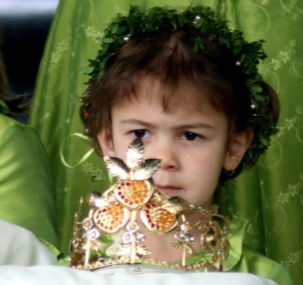 Krönung der deutschen Mostkönigin beim Lallinger Mostfest