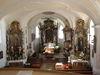 Innenraum der Pfarrkirche Lalling im Bayerischen Wald
