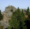 Über den Gipfel des Großen Osser verläuft die Landesgrenze zu Tschechien