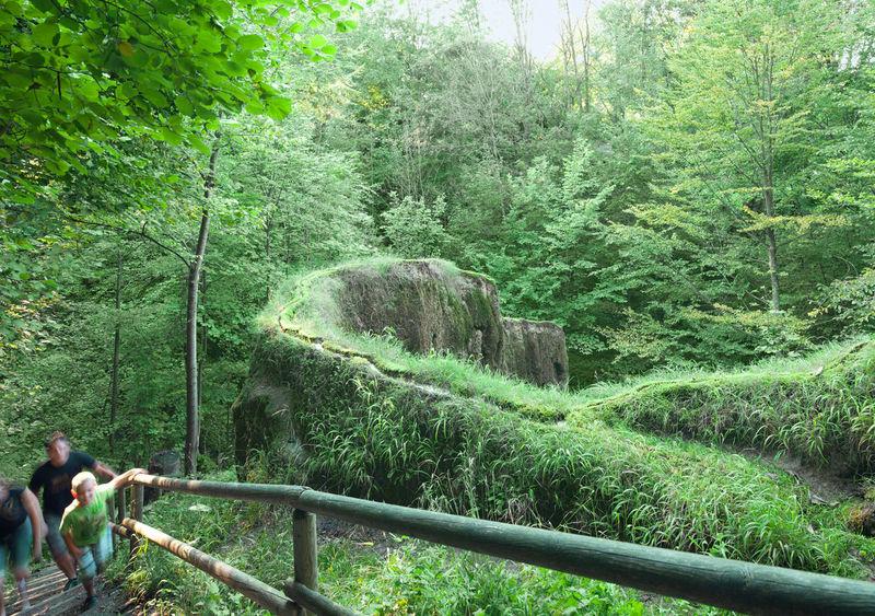 Frei zu besichtigen: Der wachsende Felsen in Usterling