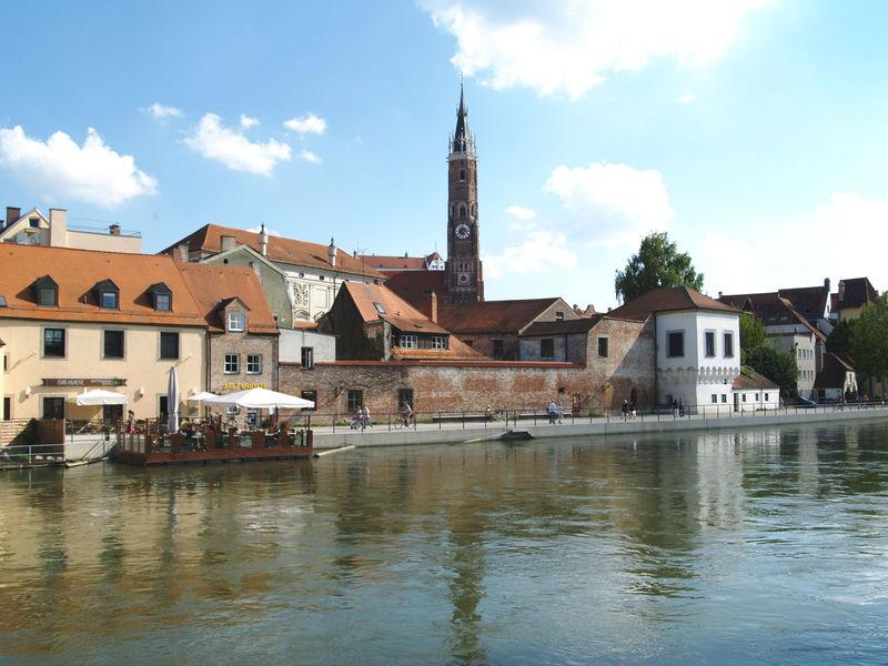 Die Mühleninsel in Landshut