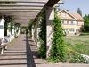 Laubengang auf der Mühleninsel in Landshut