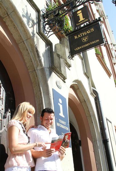 Das Rathaus mit Tourist-Info in Landshut