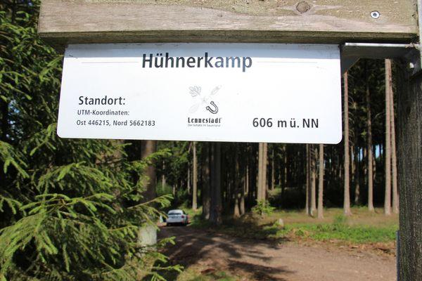 Hühnerkamp - gelegen auf 606 m üNN