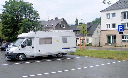 """Wohnmobilstellplatz """"Volksbankarena - Sauerlandhalle"""""""