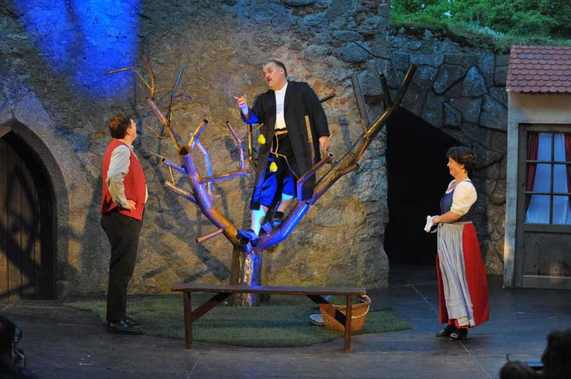 Burgfestspiele Leuchtenberg am Goldsteig im Oberpfälzer Wald.