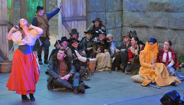 Burgfestspiele Leuchtenberg, eine Szene aus Wirtshaus im Spessart.