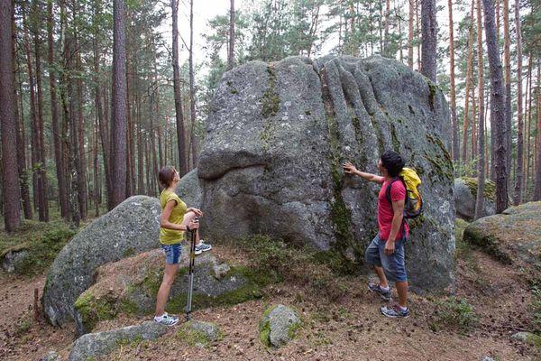 Granitmonument Gottes Hände im Lerautal bei Leuchtenberg.