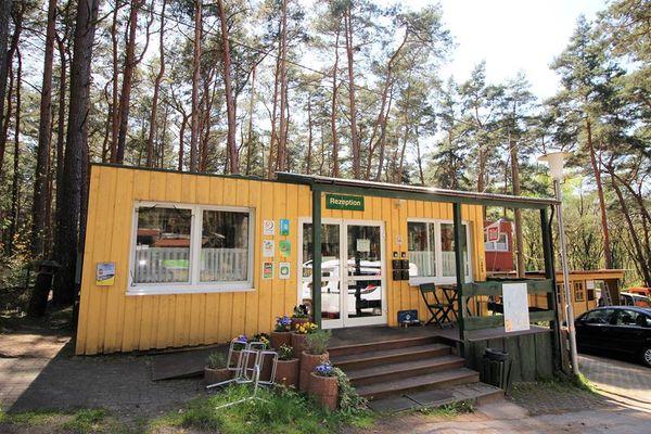 Rezeption des Naturcampingplatz am Springsee, Foto: Campingplatz