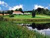Blick auf das Clubhaus im Golfpark Oberzwieselau