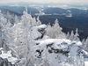 Herrlicher Blick im Winter vom Kleinen Falkenstein in den Zwieseler Winkel