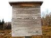 Info-Tafel am Lindbergschachten bei Buchenau im Nationalpark Bayerischer Wald