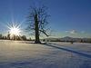 Spätnachmittag im Winter auf dem Ruckowitzschachten mit Blick zum Arber