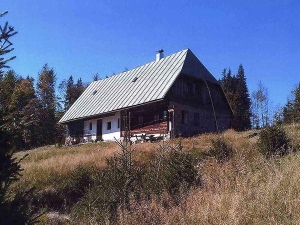 Blick auf das Schachtenhaus zwischen Falkenstein und Rachel im Nationalpark Bayerischer Wald
