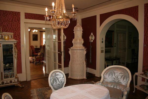 Prunkvolles Frühstückszimmer im Schloss Buchenau
