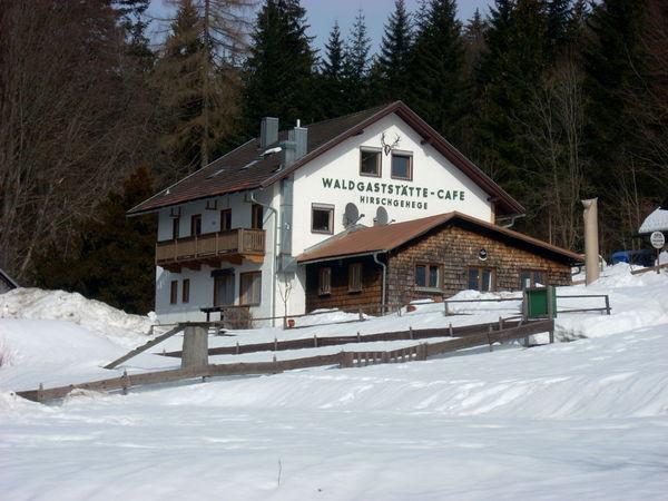 Winter beim Waldgasthaus Scheuereck im Nationalpark Bayerischer Wald