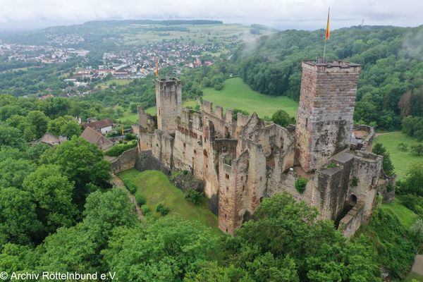 Burg Rötteln Luftaufnahme