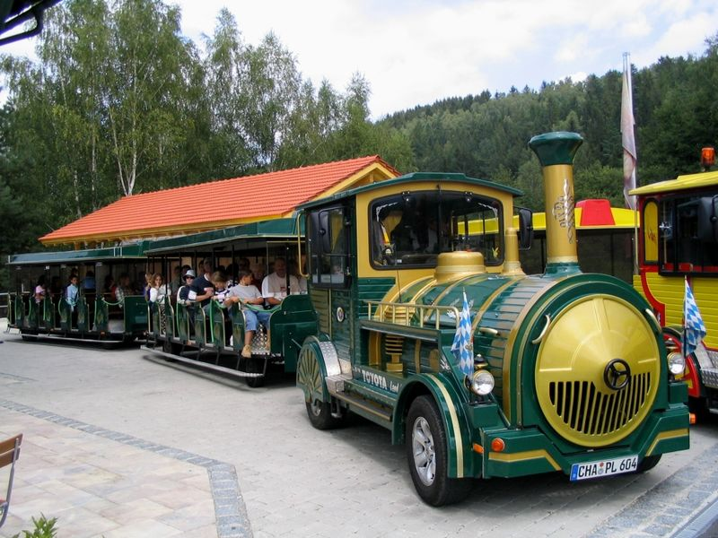 Startpunkt der Kleinen Arberseebahn beim Bayerwald-Tierpark Lohberg