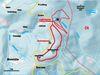 Streckenverlauf des Rundkurses Scheiben im Langlaufzentrum Lohberg-Scheiben