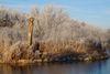Löwenmensch am Lonesee im Winter