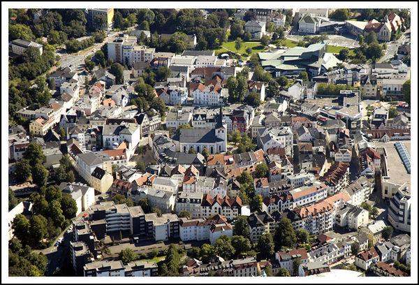 Die Lüdenscheider Altstadt aus der Vogelperspektive