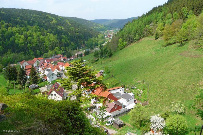 Blick auf Luisenthal in der Ferienregion Oberhof