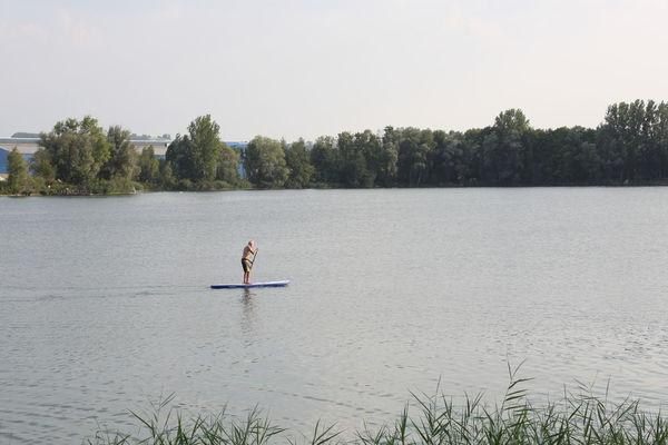Ein Traum für alle Wassersportler: der Mossandlweiher