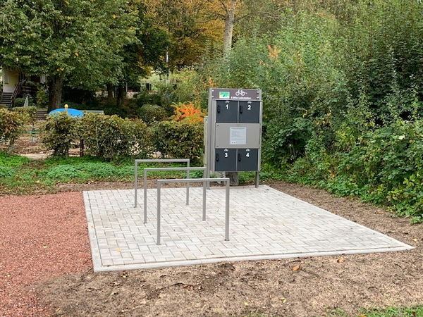 E-Bike Ladestation am Ommersheimer Weiher