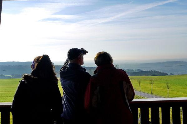 Auf der Aussichtsplattform des Heidekopfturmes in 9,5 m Höhe