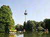 Gondolettas im Luisenpark, Fernsehturm mit Drehrestaurant