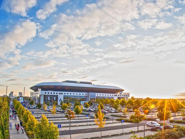 Mannheim, Veranstaltungsort: SAP Arena, Außenansicht Panorama