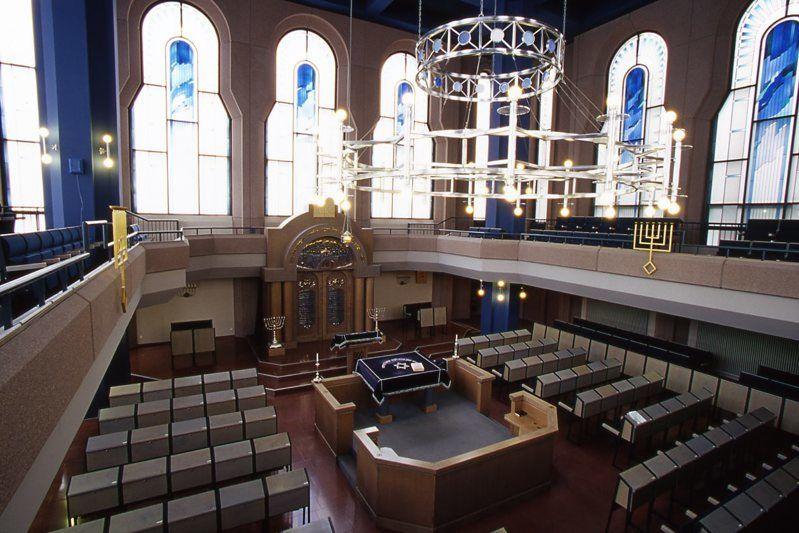 Synagoge Mannheim, Innenansicht Hauptsaal