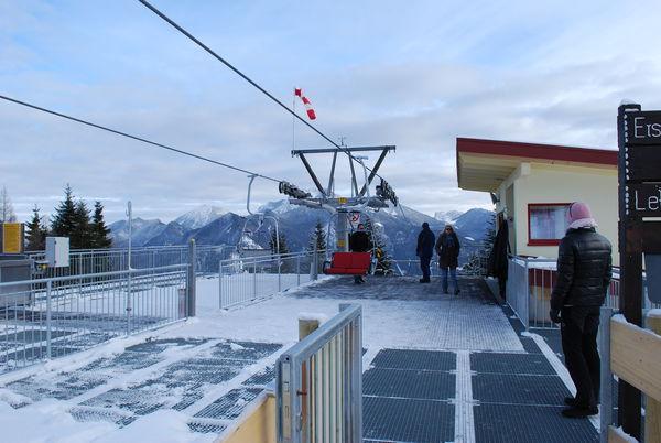 Bergstation der Hochplattenbahn