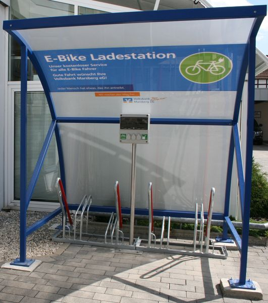 E-Bike-Ladestation Volksbank Marsberg