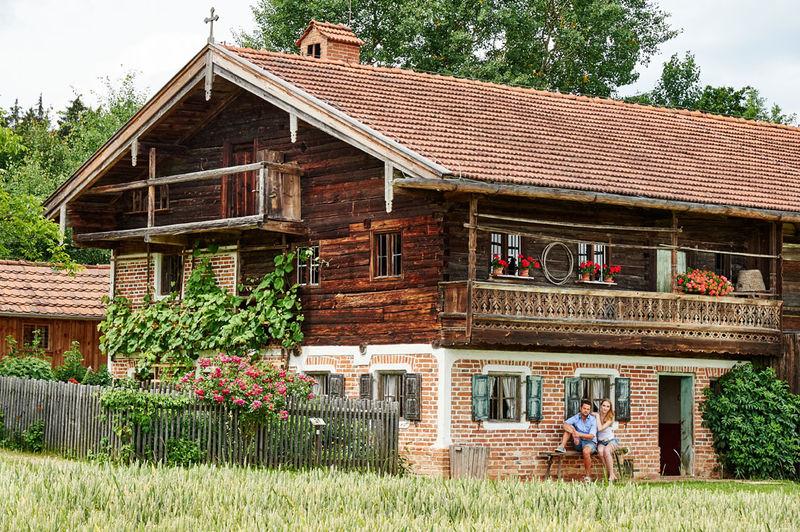 Bauernhaus im Freilichtmuseum Massing im Bayerischen Golf- und Thermenland