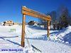 Wintertraum am Dreikönigsparkplatz, Start- und Zielpunkt der Dreikönigsloipe Mauth