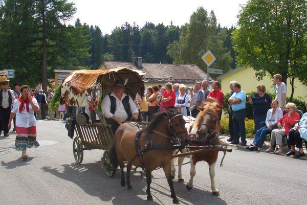 Pferdewagen am Goldenen Steig beim Heimatfest in Mauth