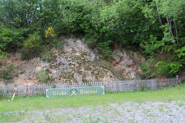 Geologischer Aufschluss Grube Dreislar