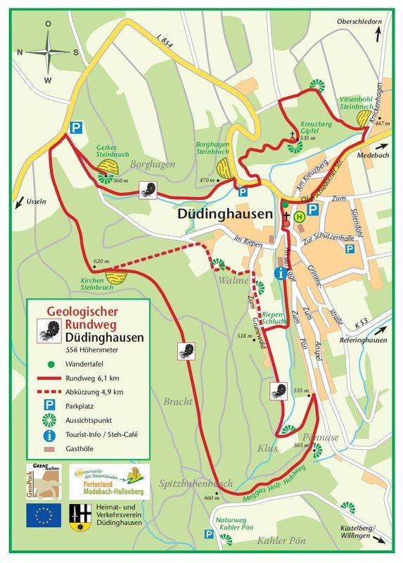 Sauerland Karte.Geologischer Aufschluss Kirchensteinbruch In Dudinghausen