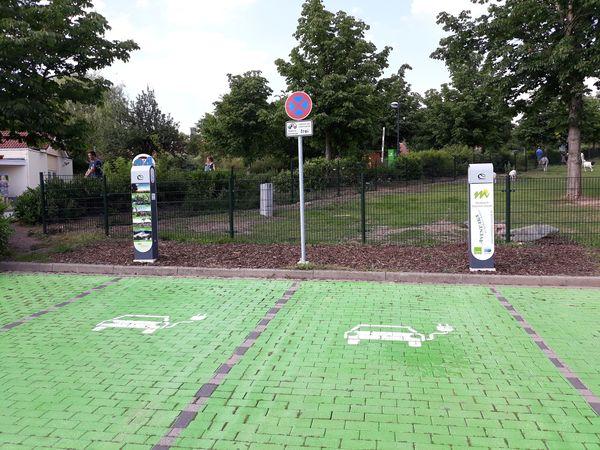 Ladestation für Elektroautos am Center Parcs Hochsauerland