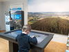 Der interaktive Tisch ist das Herzstück des Naturparkportals