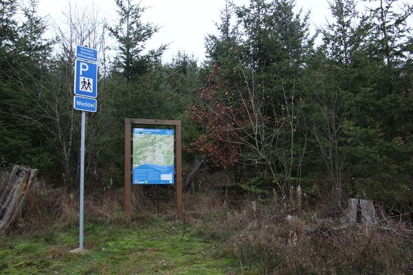 Der Wanderparkplatz Weddel