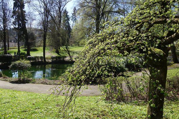Der kleine Teich im Volkspark Meinerzhagen